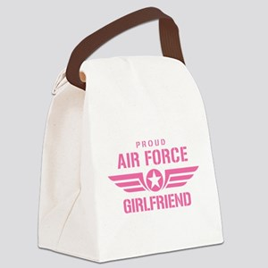 Proud Air Force Girlfriend W [pink] Canvas Lunch B